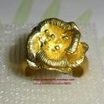 C006 แหวนรูปดอกไม้ ทองเหลือง100%