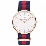 นาฬิกาข้อมือ ผู้หญิง ผู้ชาย ใส่ได้ นาฬิกาแนว Sport ผ้าไนลอน ลายทาง สลับสี แบรนด์ จากอังกฤษ นาฬิกา ข้อมือ มีดีไซน์ ของขวัญให้แฟน 355359