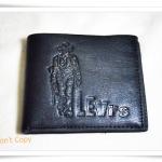 กระเป๋าสตางค์หนังแท้ Levis สีดำคาวบอยด้านหน้า A289