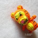 ตุ๊กตาเสือทิกเกอร์ถักโครเชต์ ขนาด 4 นิ้ว tigger amigurumi crochet doll