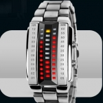 นาฬิกาข้อมือ ผู้หญิง ผู้ชาย ใส่ได้ แบบ Led สไตล์หุ่นยนต์ สีเงิน มีฟังก์ชั่นบอก เวลาแบบ แสงไฟ เท่ ๆ ใช้งานทนทาน ด้วย Japanese battery no 725305_1