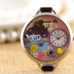 นาฬิกาข้อมือผู้หญิง diy นาฬิกาข้อมือ 3 มิติ ตกแต่งเป็น ลายห้องครัว มีกาน้ำร้อน หวานแหวว นาฬิกาแฟชั่น น่ารัก วินเทจ มีสไตล์ 410585
