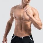 กางเกงว่ายน้ำผู้ชาย แบบ Boxers ขาสั้น สีดำ สินค้าคุณภาพส่งออก size L