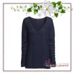 H&M / Purl-knit Sweater (Size S /#Dark blue)