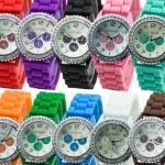 ซื้อ 1 แถม 1 นาฬิกาข้อมือ สายซิลิโคน สีประจำวัน ผู้ชาย ผู้หญิง นาฬิกาแฟชั่น ราคาถูก no 76764