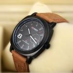นาฬิกาข้อมือ ผู้ชาย สายหนัง แนว Sport CURREN
