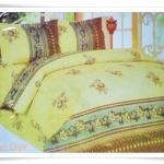 ชุดผ้าปูเตียง ผ้าปูที่นอน Cotton 6 ฟุต 3 ชิ้น สีเหลืองอ่อน B022