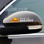 ONE PIECE - สติกเกอร์ตกแต่งรถยนต์ติดกระจก ลายวันพีช (2 สี)