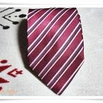 เนคไท ผู้ชาย Armani สีแดงลายทาง N018