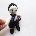 ตุ๊กตานักกีฬารักบี้ถัก ขนาด 3 นิ้ว footy/rugby amigurumi crochet 3 inches
