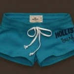 กางเกงขาสั้น กางเกงฟิตเนส กางเกงโยคะ Hollister surf กางเกงผู้หญิง ขาสั้น สีฟ้า Blue sky no 93812_4
