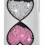 เคส iPhone 5c ประดับเม็ดคริสตัล ด้านใน คล้ายเม็ดทราย เคส แบบ เก๋ งาน Hand made ไม่ซ้ำใคร ลายหัวใจ นาฬิกาทราย สีดำ สีขาว no 98246_4