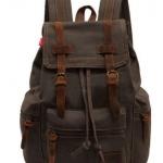กระเป๋าสะพายหลัง กระเป๋าเป้ สไตล์วินเทจ กระเป๋าเป้ผู้หญิง ผ้า แคนวาส ผสมผสาน กับหนังแท้ มีหลาย สี กระเป๋า backpack ทนทาน สุดๆ 565484