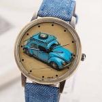 นาฬิกาข้อมือ วัยรุ่น หน้าปัด รถเต่า นาฬิกาข้อมือ ดีไซน์เก๋ เท่สุด ๆ สีฟ้า no 999965