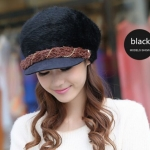 หมวกแฟชั่น ขนสัตว์ สไตล์ สาวยุโรป สีดำ คาดน้ำตาล ดีไซน์ หรูหรา ใส่แล้วดูน่ารัก สุด ๆ ค่ะ 55853_1