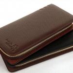 กระเป๋าสตางค์ผู้ชาย ใบยาว ซิปรอบ สีดำ และ สีน้ำตาล ใส่บัตรได้เยอะ ใส่ไฟแซ็ก ใส่โทรศัพท์ได้ กระเป๋าสตางค์หนังแท้ ลดราคา แบบสวย เรียบหรู 762385