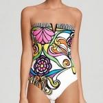 ชุดว่ายน้ำ วันพีช ชุดว่ายน้ำเต็มตัว แบบเกาะอก สีขาว เพ้นท์ ลายดอกไม้ สไตล์ วินเทจ สุดคลาสสิค ชุดว่ายน้ำ แฟชั่น ยุโรป สวยเก๋ มีสไตล์ 100464