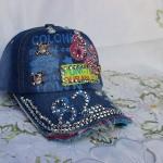 หมวก cap หมวกเบสบอล หมวกมีปีก ประดับเพชร แต่งลายเท่ ๆ 82 หมวกผ้ายีนส์ ปรับขยายขนาดได้ มีสี ฟ้าอ่อน และ ฟ้าเข้ม no 3109433