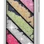 เคส iPhone 5c ประดับเม็ดคริสตัล ด้านใน คล้ายเม็ดทราย เคส แบบ เก๋ งาน Hand made ไม่ซ้ำใคร ลายแนวทแยง 7 ชั้น สีดำ สีขาว no 98246_1