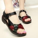 รองเท้าหุ้มส้น ผู้หญิง รองเท้าหนังแท้ รองเท้ารัดส้น มีส้นเล็กน้อย แบบสวย ใส่สบาย ดีไซน์โบว์ ยืดหยุ่นสูง 274437