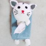 กล่องทิชชูถักตุ๊กตาแมว