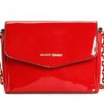 กระเป๋าสะพายข้าง ผู้หญิง กระเป๋า Mango หนังแก้ว หนังเงา สีแดงสด แบบเปรี้ยว ๆ กระเป๋าสะพายออกงาน เข้ากับ เดรสสีแดง เพิ่มความหรู 912520_2