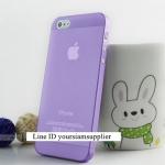 ซื้อ 1 แถม 1 Case ใส่ Iphone 5 5s แบบใส สีม่วง