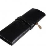 กระเป๋าใส่เครื่องสำอางค์ กระเป๋าใส่ดินสอ ปากกา หนังแท้ สไตล์ วินเทจ สามารถใส่ ดินสอ เขียนตา ดินสอแต่งหน้าได้ สีดำ no 31790_3