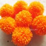 ปอมปอมไหมพรมสีส้ม ขนาด 2 นิ้ว pompoms crochet