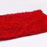 พรมเช็ดเท้า ไมโครไฟเบอร์ 40*60 cm สีแดง
