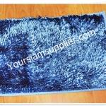 พรมเช็ดเท้า ไมโครไฟเบอร์ 40*60 cm สีฟ้า รุ่นมันวาว