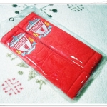 ที่หุ้มสายเบลล์ ลายทีมฟุตบอล Liverpool สีแดง แบบเรียบ อุปกรณ์หุ้มสายนิรภัย รถยนต์