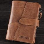 กระเป๋าสตางค์ผู้ชาย กระเป๋าสตางค์ ใบสั้น หนังแท้ สีน้ำตาลอ่อน แนวตั้ง แบบคลาสสิค กระเป๋าสตางค์ ให้แฟน ของขวัญ ใช้งานได้จริง 71445_2