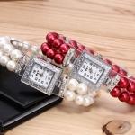 นาฬิกากำไลสร้อยข้อมือ นาฬิกาข้อมือ ผู้หญิง สายลูกปัด สีน้ำเงิน แดง ชมพู นาฬิกาข้อมือ วัยรุ่น แบบกำไล น่ารัก 495512