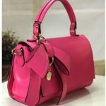 กระเป๋าถือผู้หญิง กระเป๋าแฟชั่น หนังเรียบ ดีไซน์ติดโบว์ แฟชั่น ฝรั่งเศส กระเป๋าถือออกงาน ไปทำงาน เรียบหรู สีชมพู สด no 441435_3