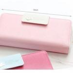 กระเป๋าสตางค์หนัง ใบยาว ซิปรอบ กระเป๋าสตางค์ผู้หญิง สามารถใส่โทรศัพท์ได้ no 916787