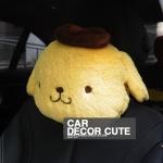 POM POM PURIN - หมอนหนุนคอในรถยนต์ลายปอมปอมปูริน