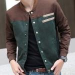 เสื้อ แจ็คเก็ต ผู้ชายแขนยาว สไตล์ วัยรุ่น ผ้า Cotton Jacket กระดุมหน้า ดีไซน์ สลับ 2 สี เสื้อคลุม เสื้อชั้นนอก ใส่เที่ยว ใส่เรียน เท่ ๆ 97940_2