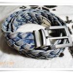 Used เข็มขัดผ้ายีนส์ เชือกถัก A104