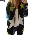 เสื้อคลุมแขนยาว เสื้อ Jacket ผู้หญิง แฟชั่น อเมริกัน เสื้อคลุม สไตล์ ฮิปฮอป แบบวัยรุ่น เท่ ๆ เสื้อคลุม ผู้หญิง วัยรุ่น ลายดาว เก๋ ๆ 933664
