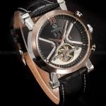 นาฬิกาข้อมือผู้ชาย แบบ โชว์กลไก ด้านใน นาฬิกาข้อมือเปลือย Mechanical watch สายหนังสีดำ มาพร้อมกับ ระบบ Calendar วันที่ และ เด่ือน 26789