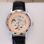 นาฬิกา Automatic นาฬิกาข้อมือสายหนัง แบบโชว์กลไก ไม่ต้องใส่ถ่าน หน้าปัด ฉลุลาย สีโอรส นาฬิกาข้อมือผู้หญิง ผู้ชาย ใส่ได้ no 39441_2