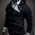 เสื้อ แจ็คเก็ต ผู้ชายแขนยาว แบบสวม เสื้อกันหนาว แบบคอปิด เสื้อใส่ ขี่มอเตอร์ไซค์ หน้าหนาวแบบ เท่ ๆ สี ดำ แบบสวย ๆ 887954_1
