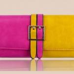 กระเป๋าสตางค์ผู้หญิง ใบยาว กระเป๋าสตางค์ แฟชั่น หนังแท้ 2 สีตัดกันอย่างลงตัว สีเหลือง มะนาว ตัด กับชมพูกุหลาบ หวานอมเปรี้ยว สวยมีสไตล์ 389777_2
