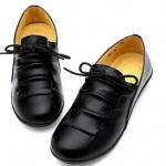 รองเท้าหุ้มส้น รองเท้าหนังแท้ แบบผู้ใหญ่ ใส่สวย มีดีไซน์ รองเท้าแฟชั่น ใส่ทำงาน รองเท้าผู้หญิง แบบเท่ ๆ สีดำ แบบคลาสสิค เรียบหรู 335533