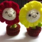 ดอกไม้โครเชต์ยิ้มยิ้ม