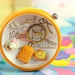 นาฬิกาข้อมือ Diy นาฬิกาข้อมือผู้หญิง นาฬิกาแฟชั่นน่ารัก สีเหลือง แต่ง Display 3 มิติ ไอคอน นักเดินทาง กระเป๋าท่องเที่ยว เก๋ ๆ มีสไตล์ น่ารักสุด ๆ 349425