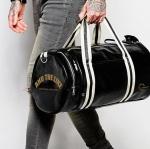 กระเป๋าเดินทาง กระเป๋าใส่เสื้อผ้า กระเป๋าฟิตเนส เข้ายิม กระเป๋าใส่เสื้อผ้า ออกกำลังกาย ทรงกระบอก หนังมัน 300801