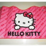 ม่านบังแดดรถยนต์ ลาย Hello Kitty สีชมพู