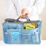 กระเป๋าจัดระเบียบของ กระเป๋าเครื่องสำอางค์ กระเป๋าใส่ของจุกจิก กระเป๋าแยกของ เหมาะสำหรับใช้เป็น กระเป๋าเดินทางขนาดเล็ก สีฟ้า no 38452_1